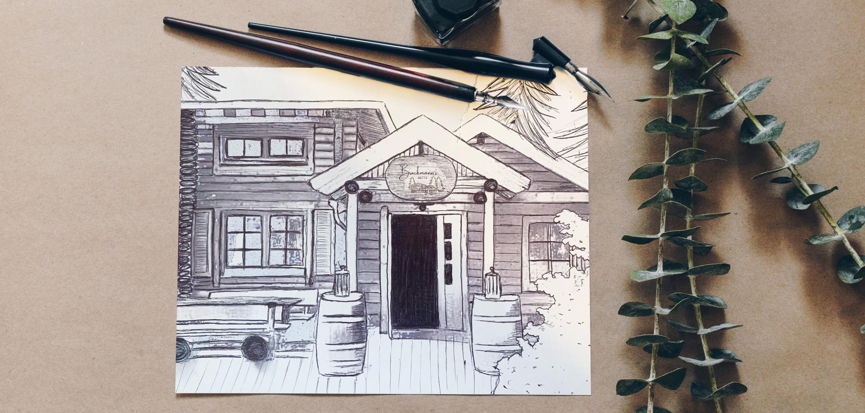 Zeichnung_Hütte